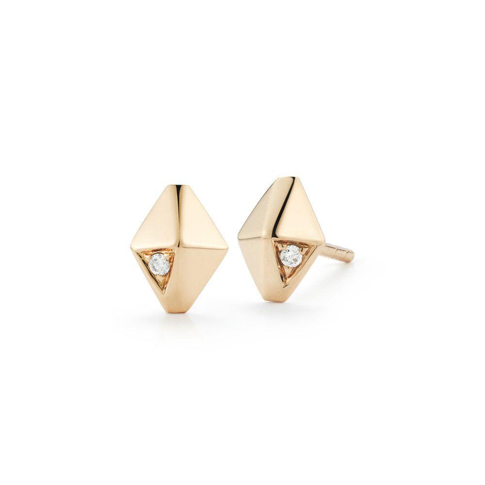 Walters Faith Sydney 18K Diamond Origami Stud Earring Silver FJ9VU