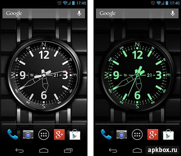 Скачать приложение часы для андроид