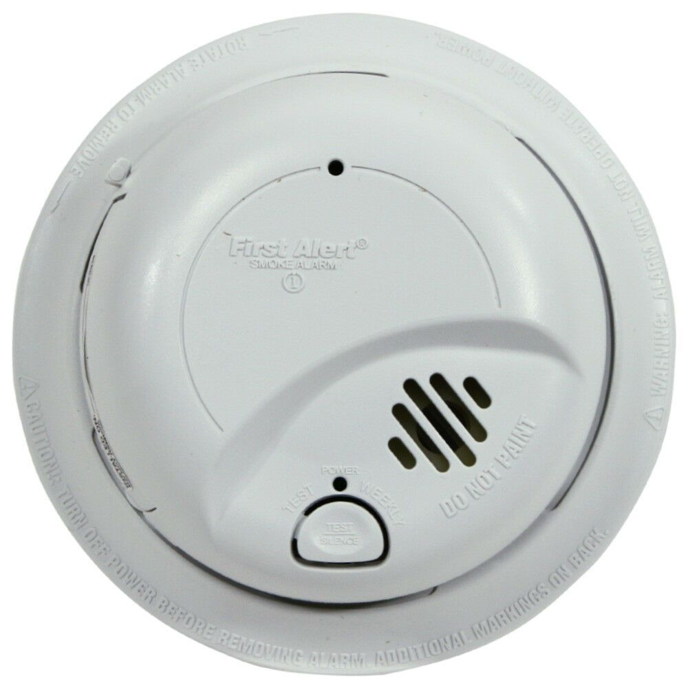 Smoke Alarm Smoke Alarm Ideas Smokealarm Firealarm Brk First Alert 9120b Ac Powered Smoke Detector Alarm With Batter Smoke Alarms Smoke Detector Detector
