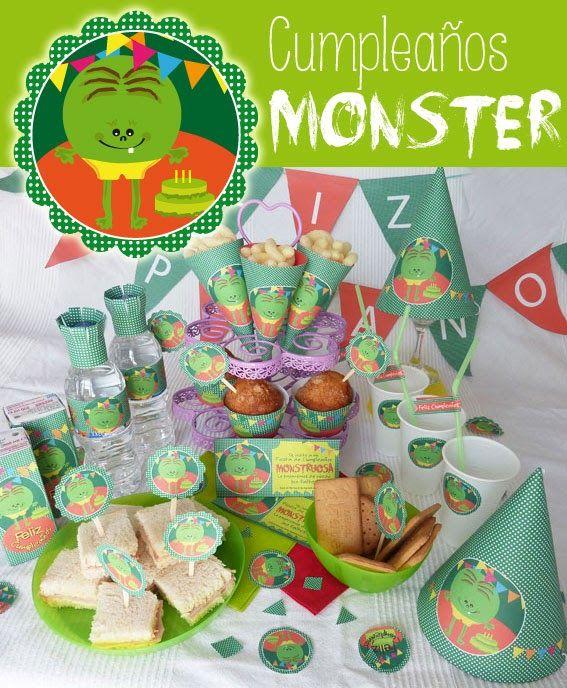 Qué cosas haces. Cumpleaños Monstruos. Monster Birthday