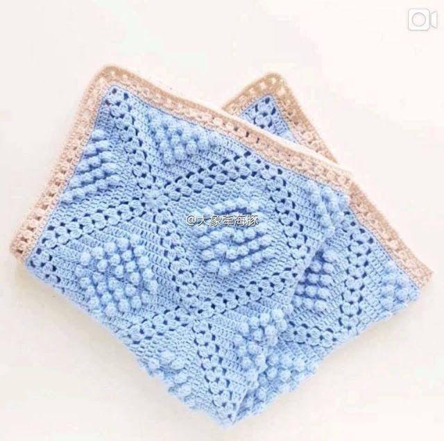 Patrón #1550:Manta a Crochet #crochet http://blgs.co/ZGDNj2 ...