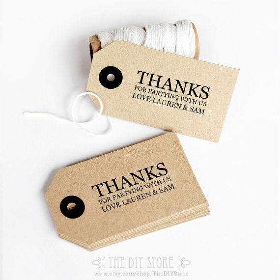 Gift Tag Diy Printable Text Editable Wedding Thank You Favor