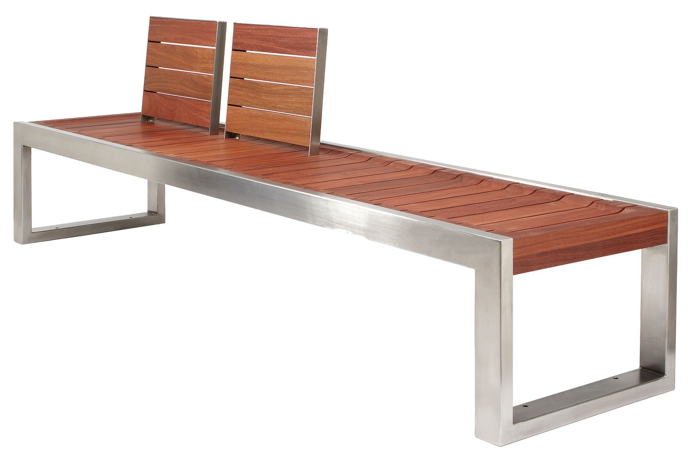unique design for modern wooden bench combined with stainless