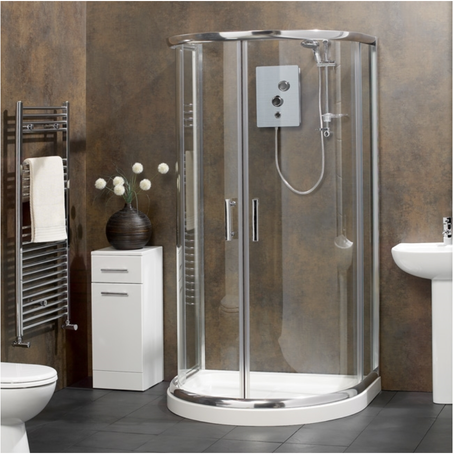 Aquasata D Shape Shower Enclosure | Bathroom ideas | Pinterest ...