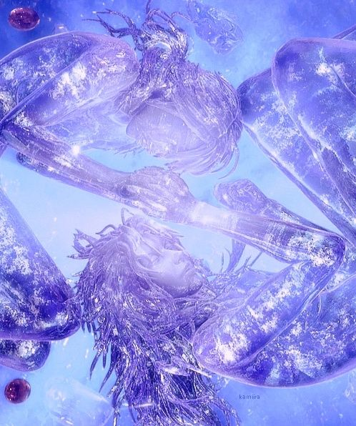 Fang and Vanille in crystal stasis, Final Fantasy XIII