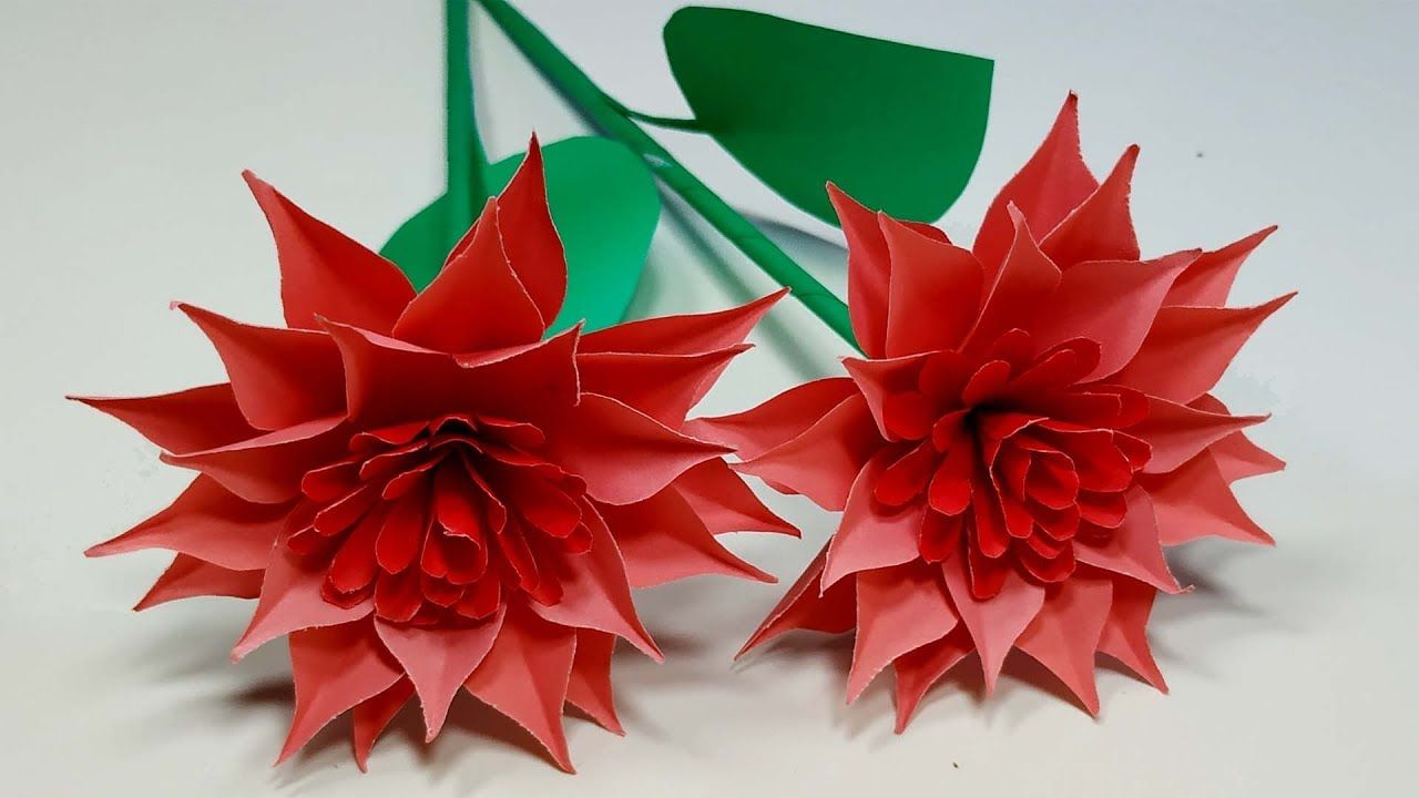 Easy And Beautiful Paper Flower Making Handcraft Paper Flowers