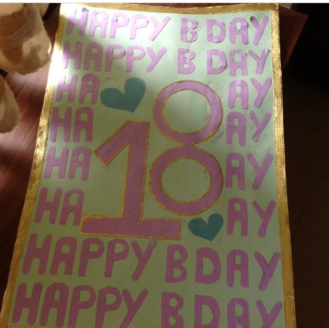 An amazing idea for your best friend's 18th birthday ...