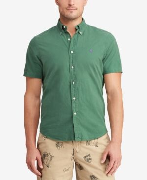 803ac935ab9d Polo Ralph Lauren Men s Big   Tall Classic Fit Cotton Oxford Shirt - Stuart  Green 2LT