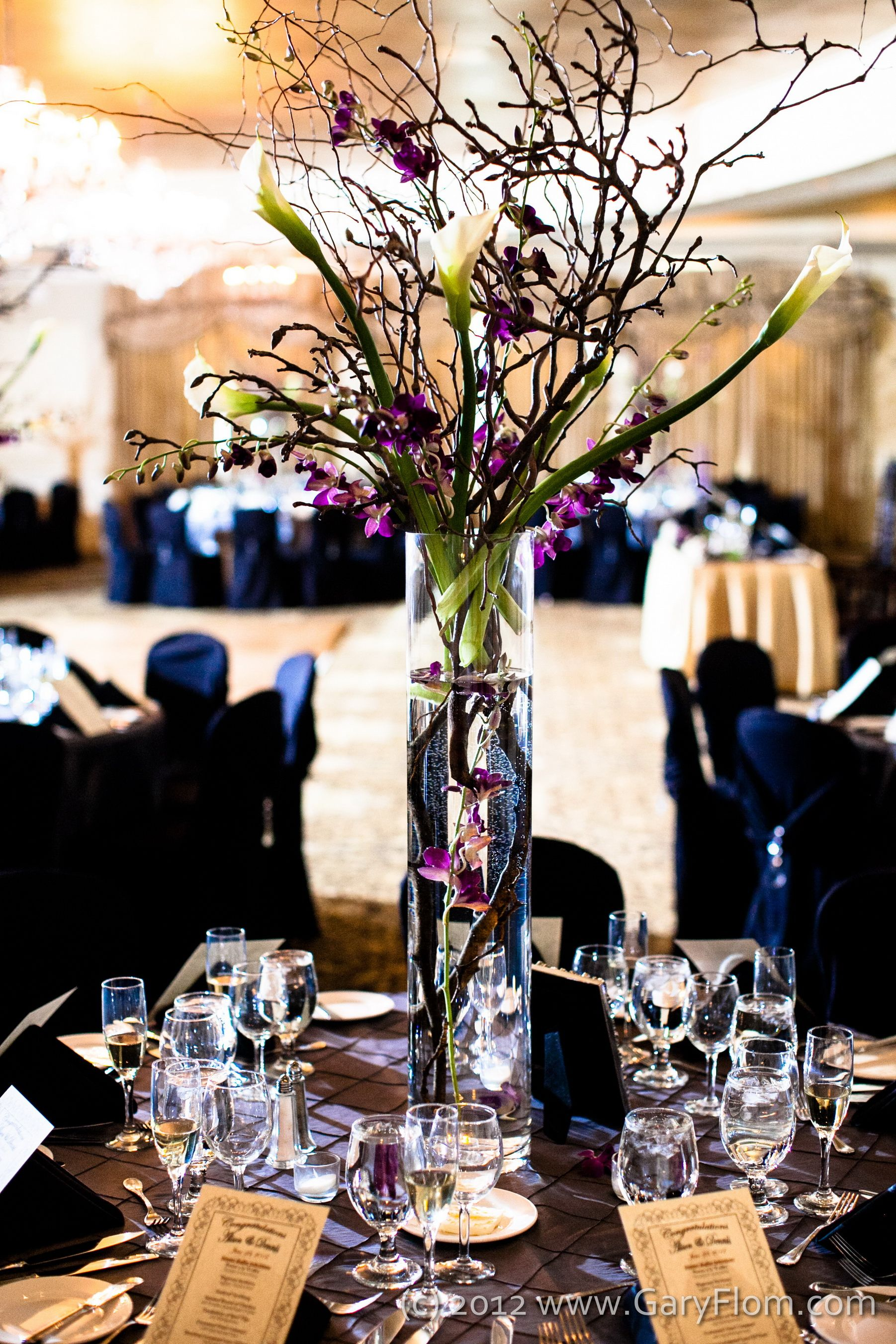 Centerpieces 6ft Tall Magnolia branches Curly Willow Stems Calla