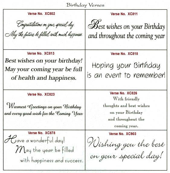 card sentiments these verse selections for the inside message