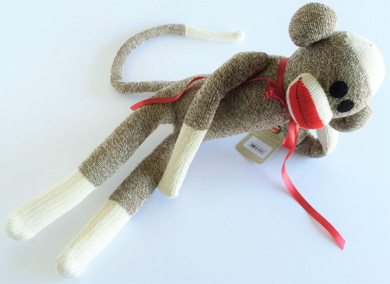 Large Rockford Red Heel Sock Monkey