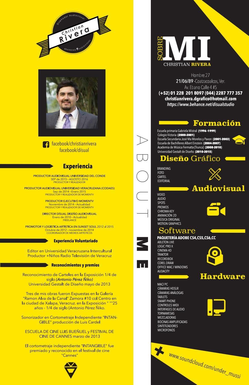 Curriculum Vitae Christian Rivera Job Pinterest