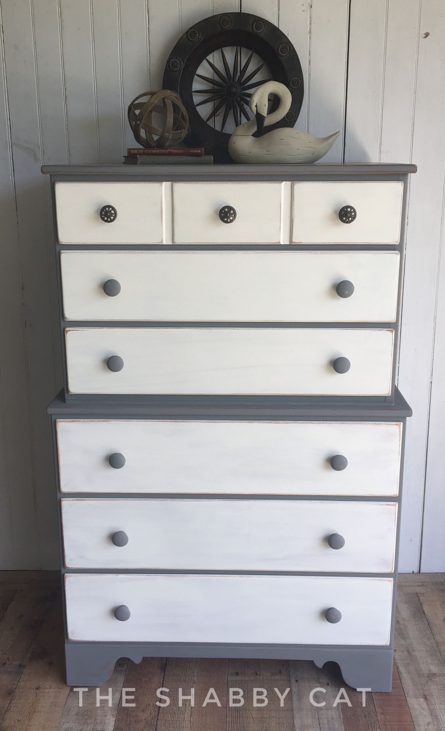 This handsome dresser was painted in Country Chic Cobblestone and