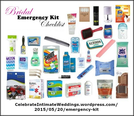 Prepare A Must Have Wedding Day Emergency Kit Wedding Emergency Kit Wedding Survival Kits Emergency Kit