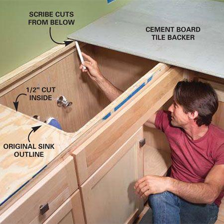 installing tile countertops diy pinterest countertops
