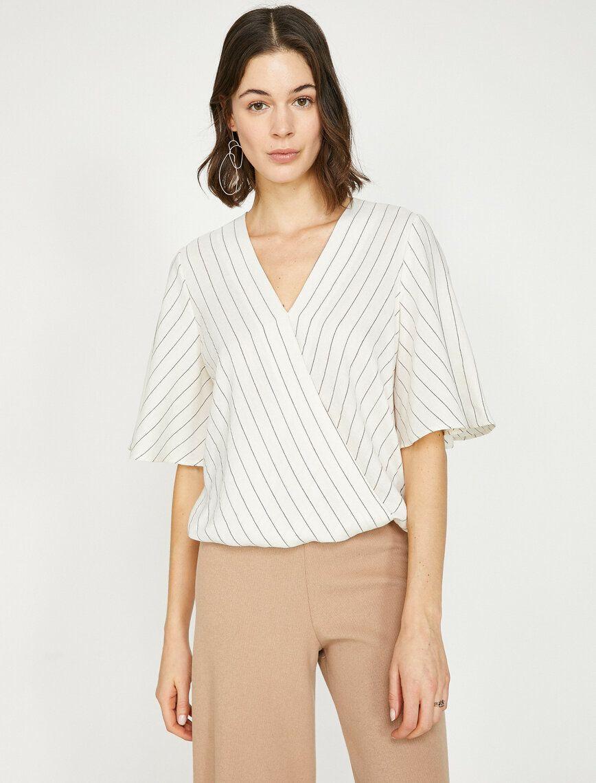 Striped Blouse Fashion Tops Women Blouses Womens Striped Blouse
