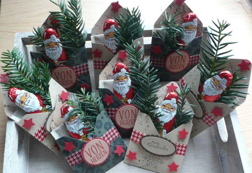 Kleine Weihnachtsgoodies mit Anleitung schnell gewerkelt. #nikolausgeschenkkollegen