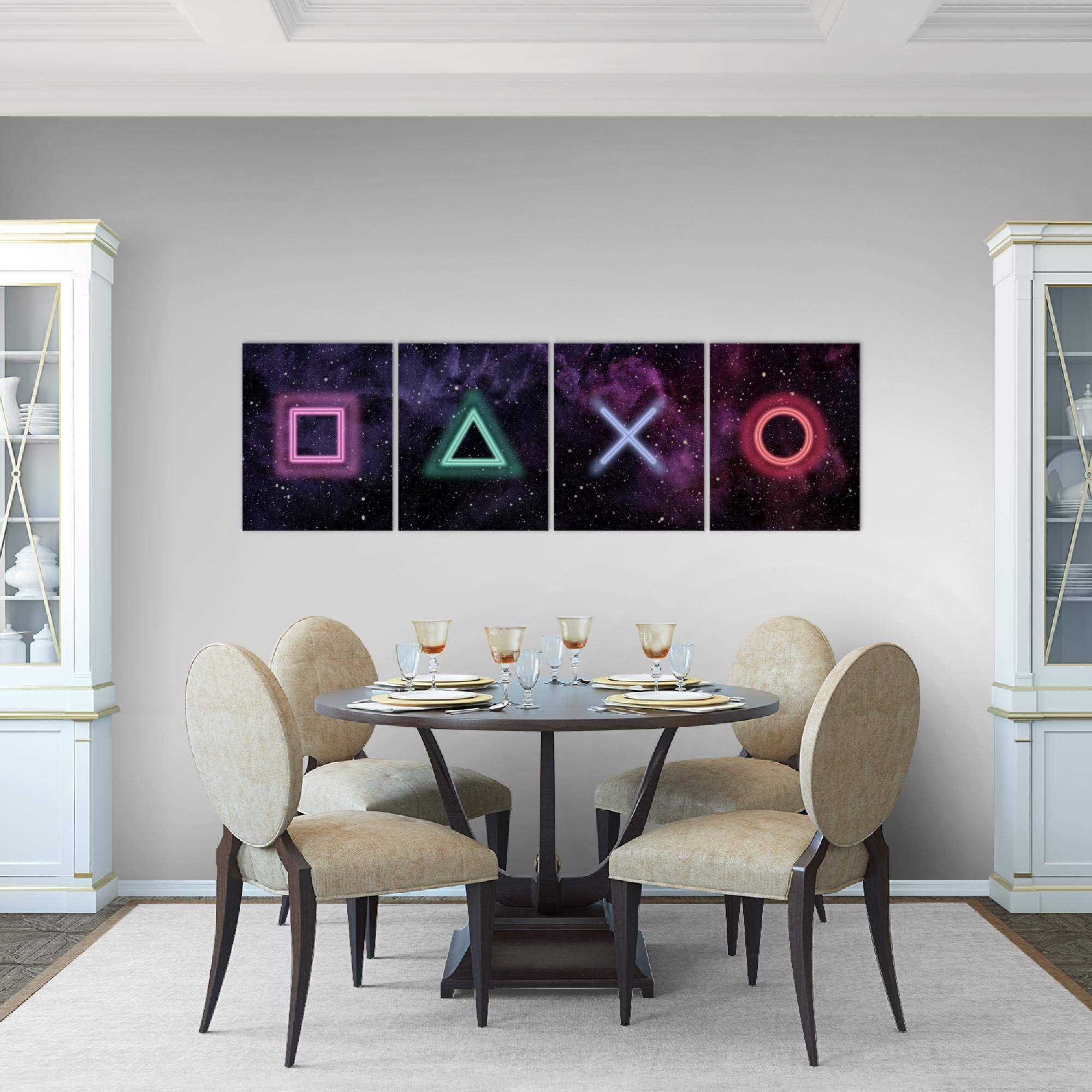 Amazon De Bilder Spielkonsole Gamer Wandbild 160 X 50 Cm Vlies Leinwand Bild Xxl Format Wandbilder Wandbilder Wand Wandbilder Wohnzimmer
