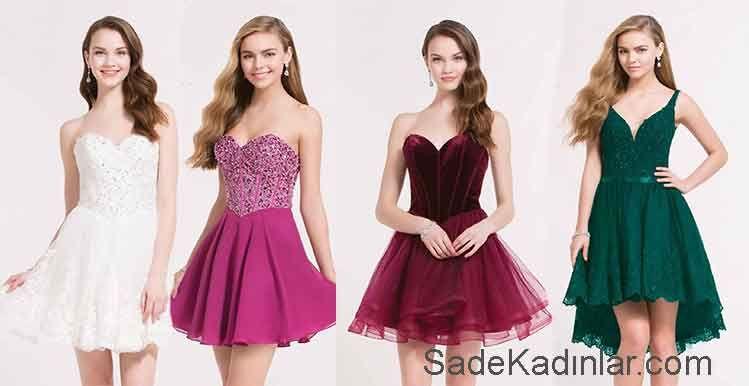 Kisa Mezuniyet Elbiseleri Ve Sik Genc Abiye Elbise Modelleri The