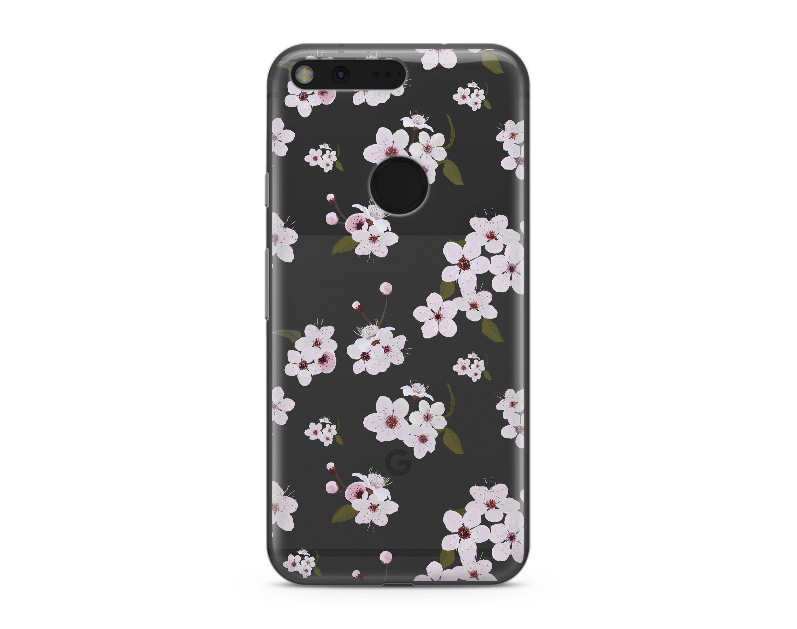 Flower Samsung s9 Plus Case Samsung s6 Edge Cherry iPhone 8 Plus Clear Google Pixel XL