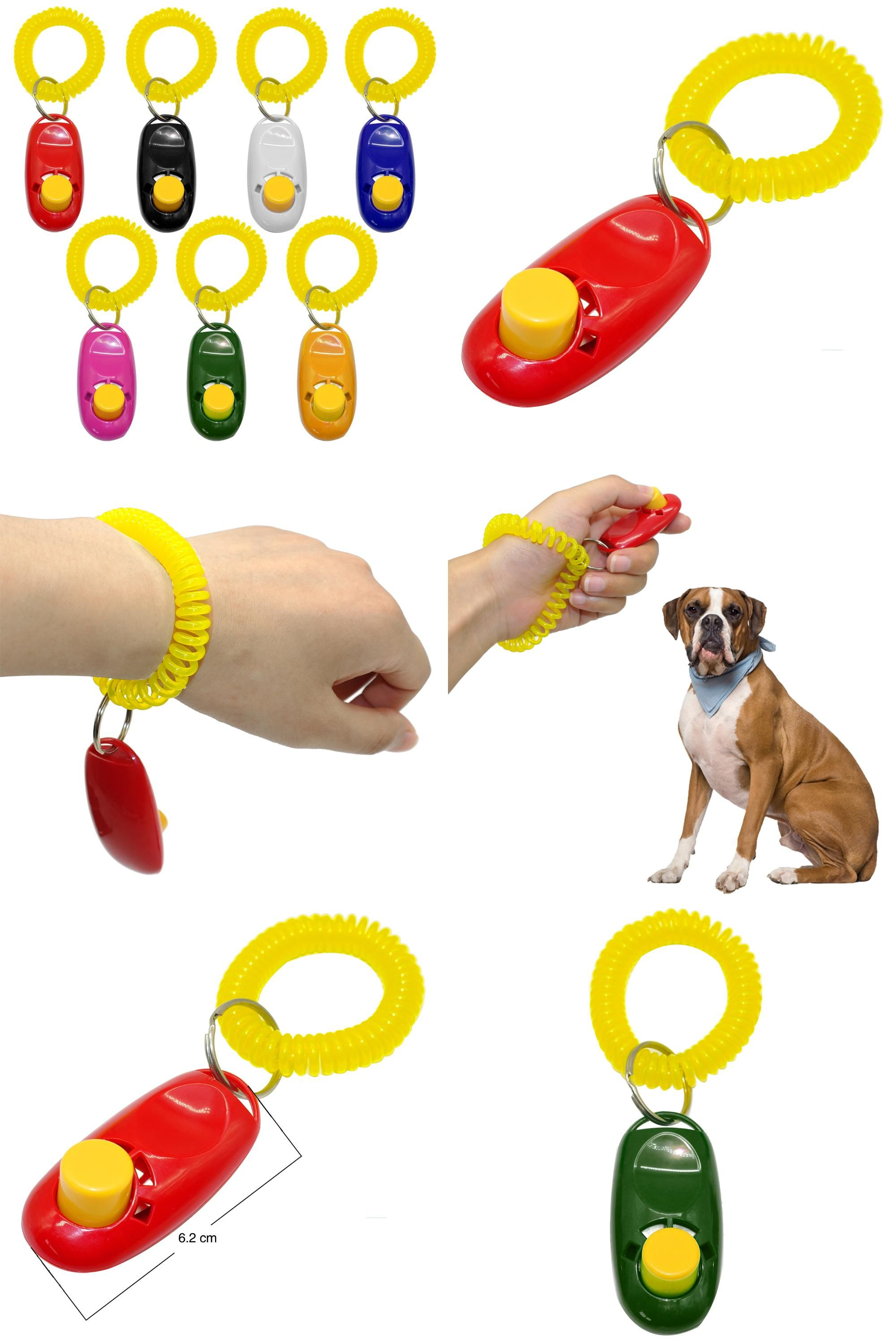 Visit To Buy Dog Clicker Cat Training Trainer With Key Ring And