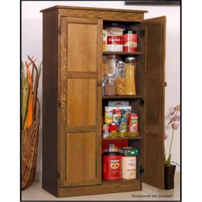 Concepts In Wood KT613 D Multi Use Storage Cabinet, Dry Oak Finish 4