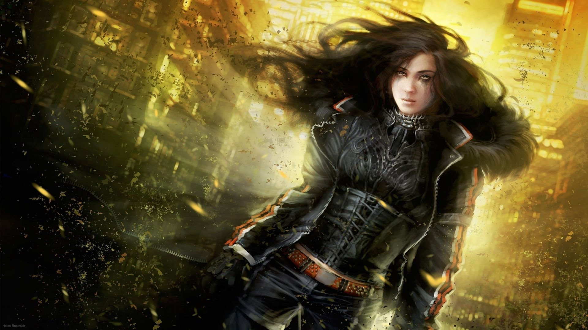 cg digital art women apocalypse sci fi futuristic brunette fantasy