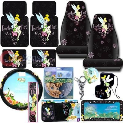 Excellent Tinkerbell Fearless Flirt Car Seat Covers Accessories 12Pc Pabps2019 Chair Design Images Pabps2019Com