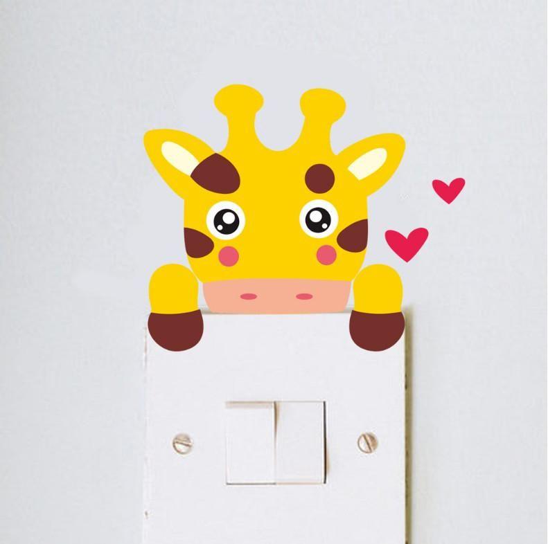 Visit to Buy] DIY Cute giraffe monkey cat lion bear zebra Switch ...