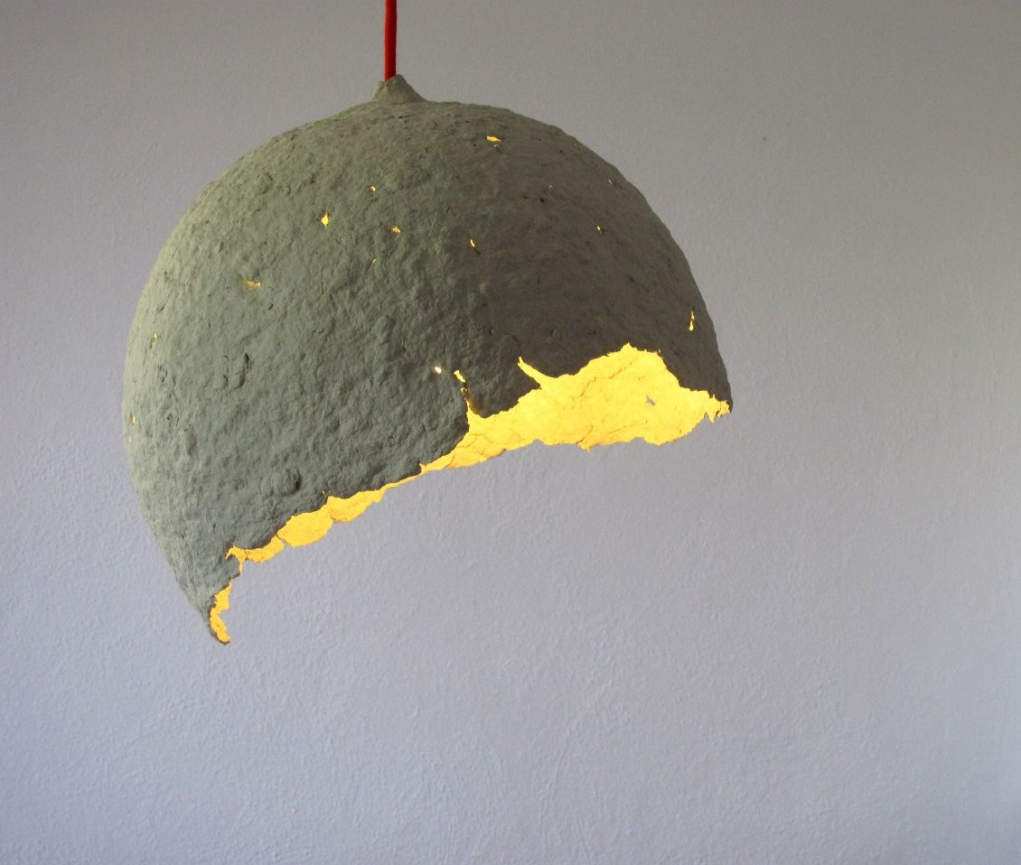 recycled paper pulp lamp. Globe. Creare. Designed by Maria Fiter ... for Recycled Paper Lamp  45ifm