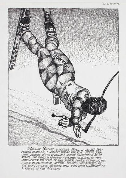 r crumb underground cartoonist shares his skiing illustration