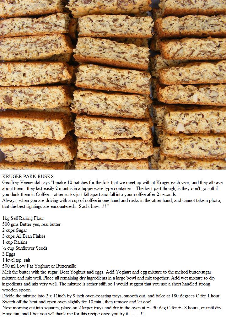 Kruger Park Rusks Rusk Recipe Buttermilk Recipes Bread Recipes Homemade