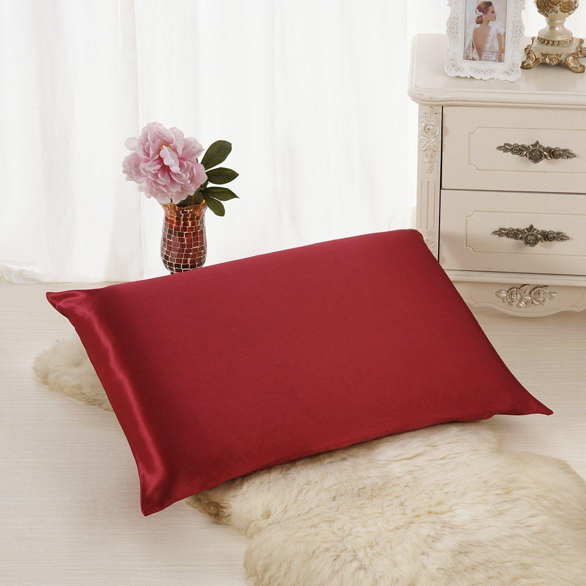 ALASKA BEAR - Luxurious 18 momme weight Silk Pillowcase, 18 ...