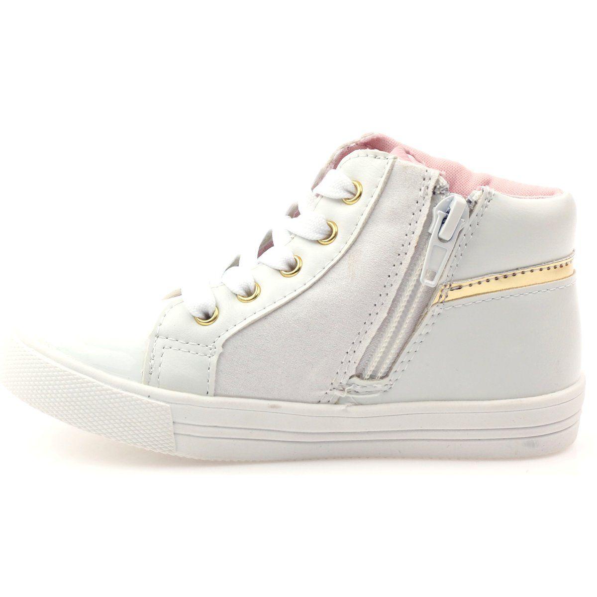 American Club Sportowe Dziewczece Serduszko American Zolte Biale Wedge Sneaker Shoes Sneakers