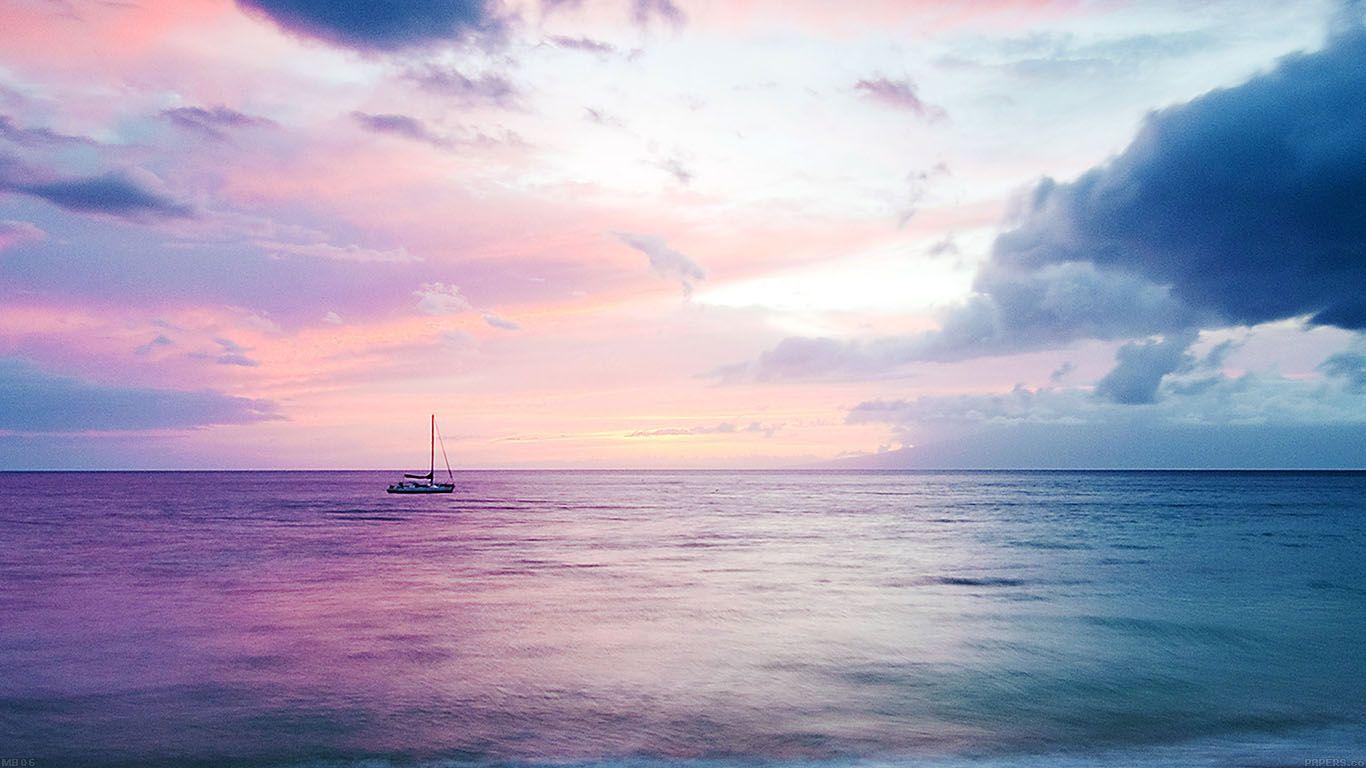 Mb06 Wallpaper Dreamy Sea Boat Beach Plaj Duvar Kagidi Resimler Doga