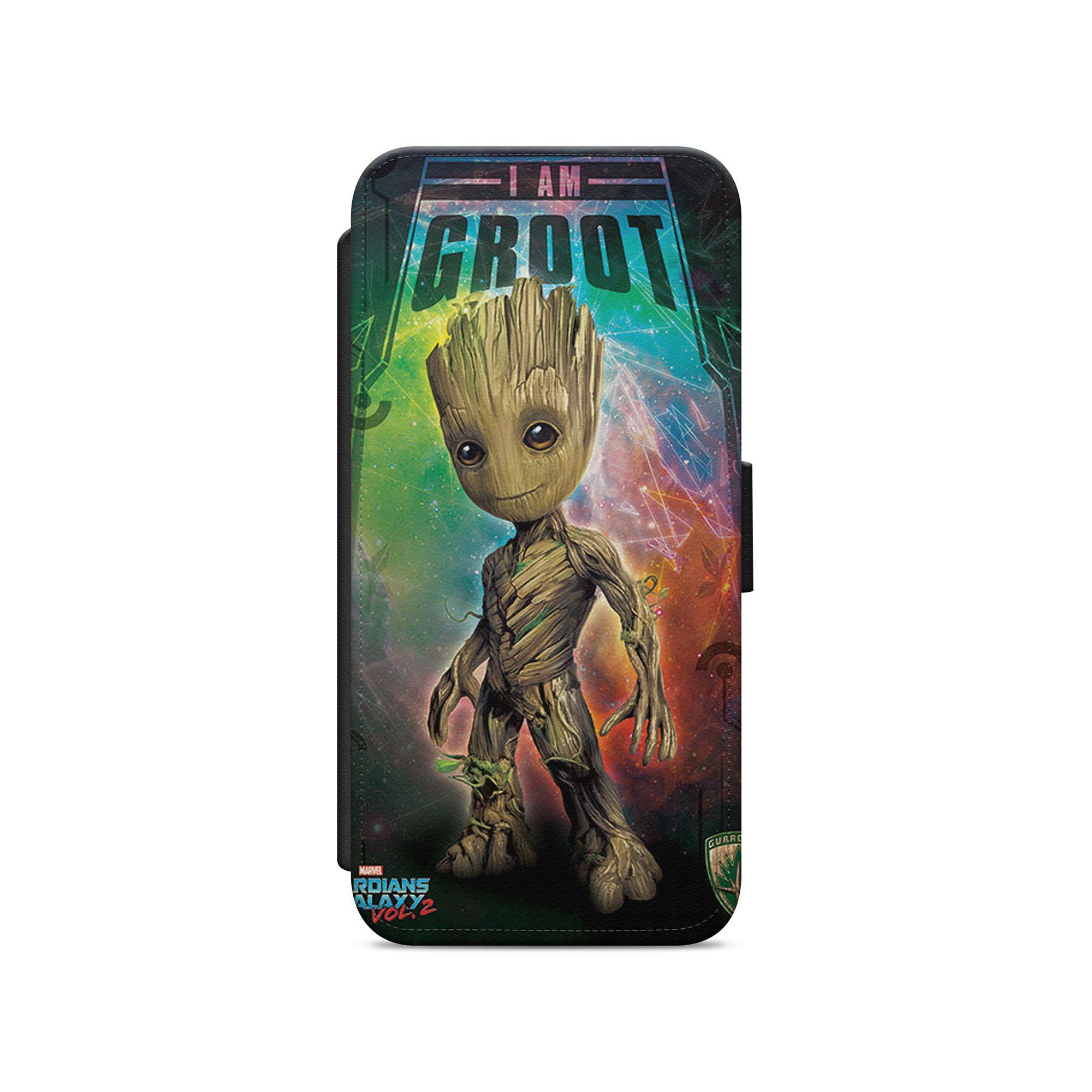 Baby groot guardians of the galaxy marvel leather wallet