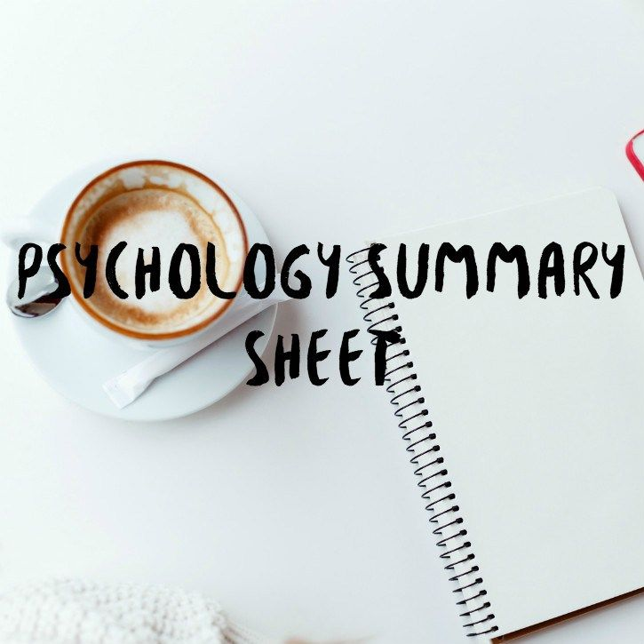 A few days ago I made a post about how I make my summaries for psychology and I mentioned making a printable that is pretty similar to how I design them. I've made this in a few different col…