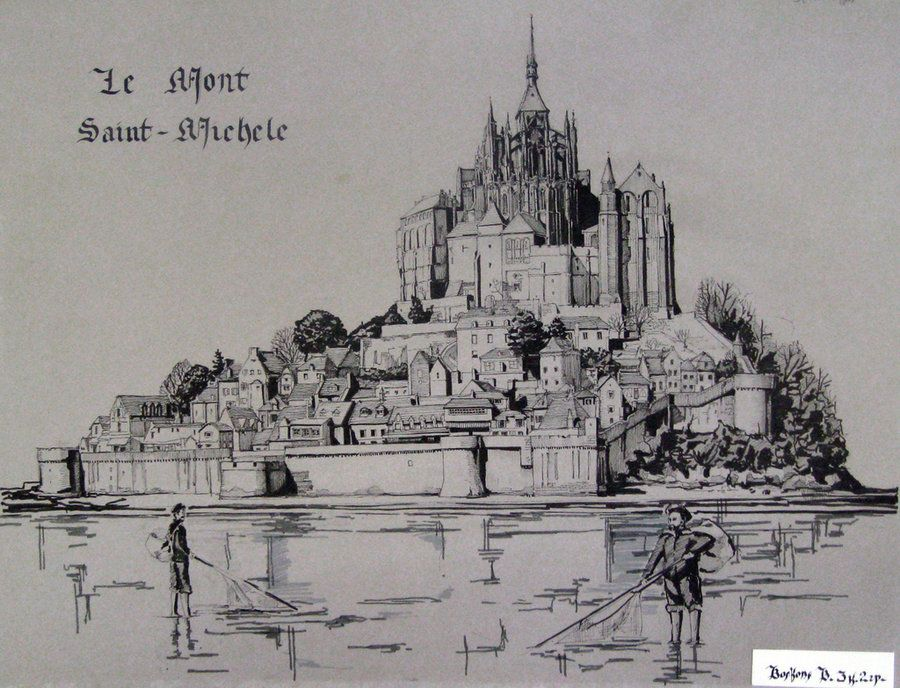 Mont Saint Michel By Extry On Deviantart Mont Saint Michel
