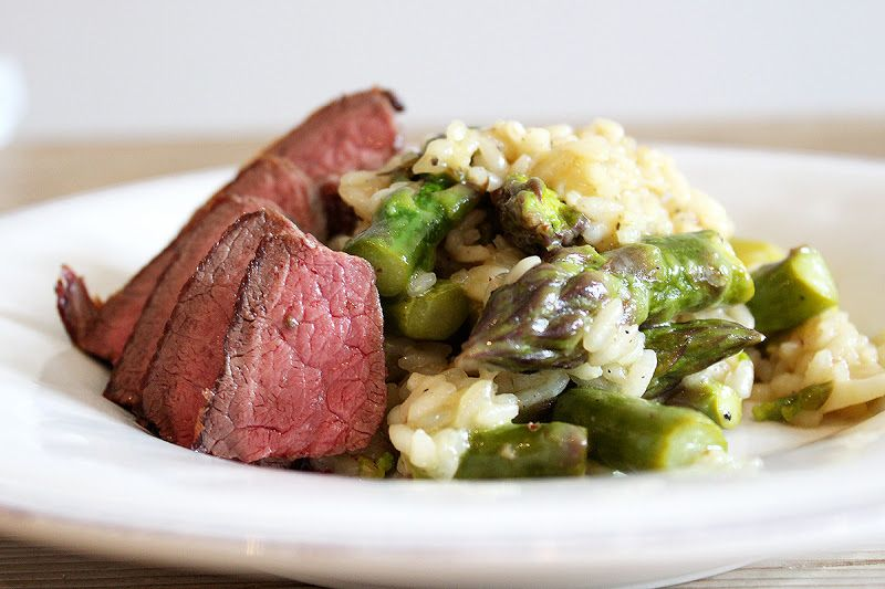 Spargel-Risotto mit Rindshuft | risotto asparagus and tenderloin steak
