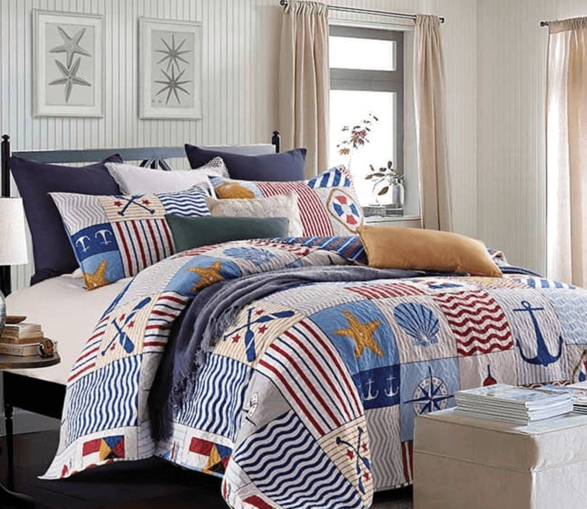Anchors Away Printed Quilt Set nautical finds Pinterest