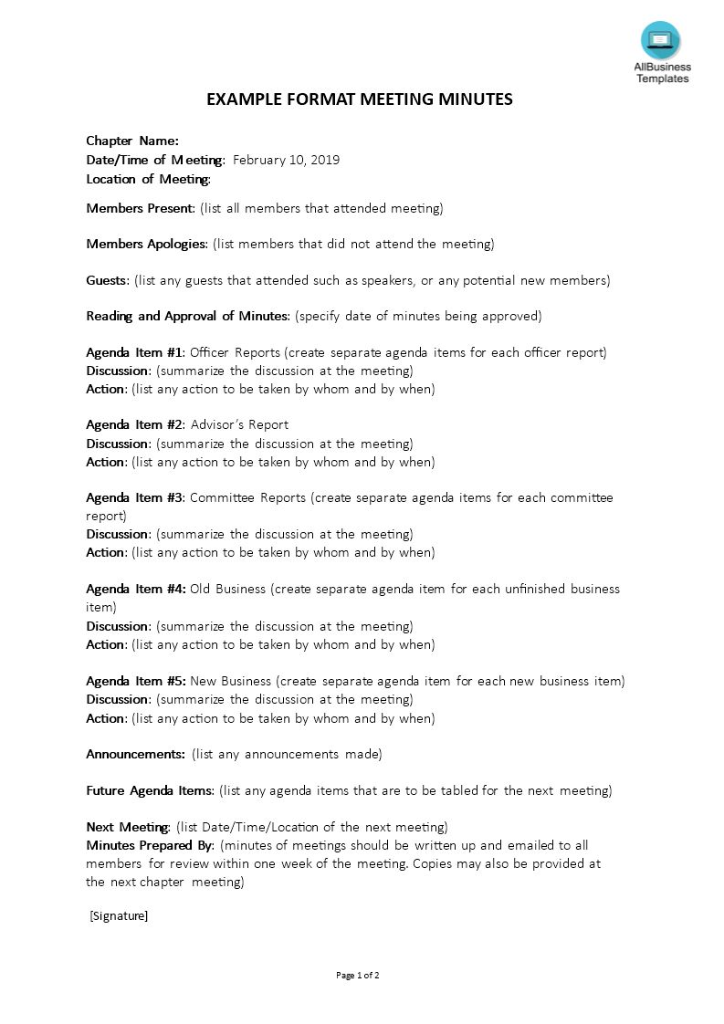 Corporate Meeting Minutes Template Templates At Throughout Minutes Of The Meeting Template Best Tem Business Template Best Templates Professional Templates