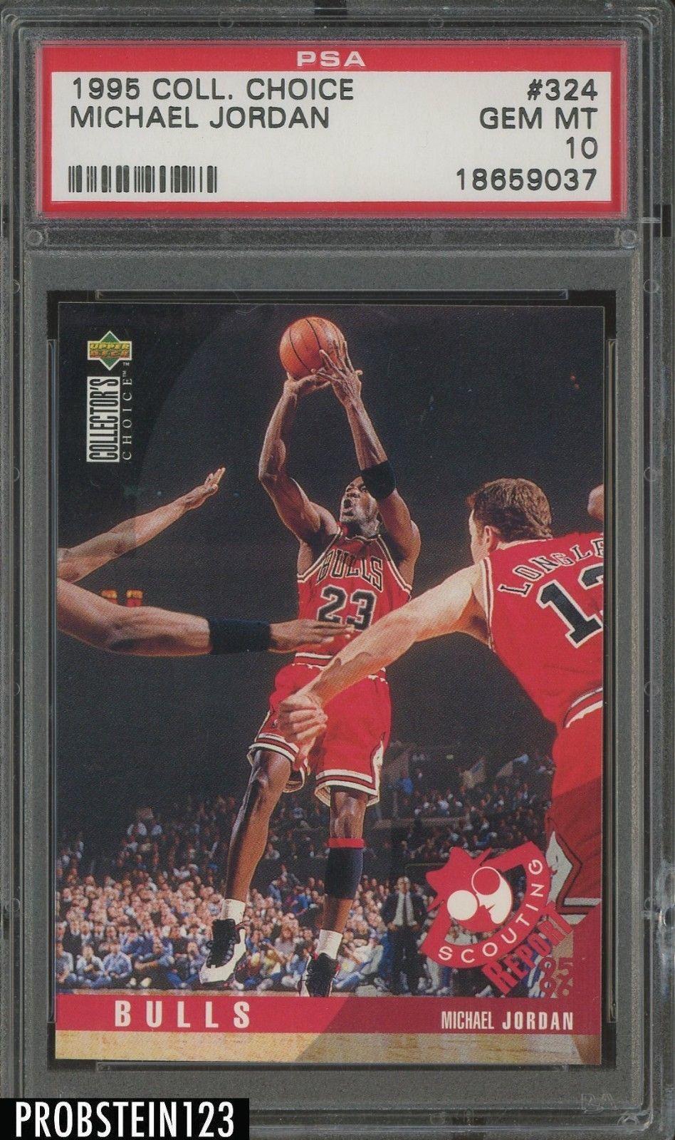 1995 coll choice 324 michael jordan chicago bulls hof