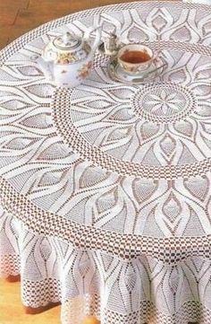 Crochet Tabletopper See Pattern круглая скатерть крючком