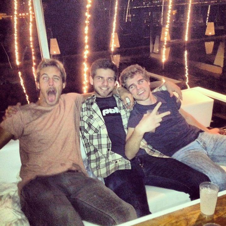With my boys