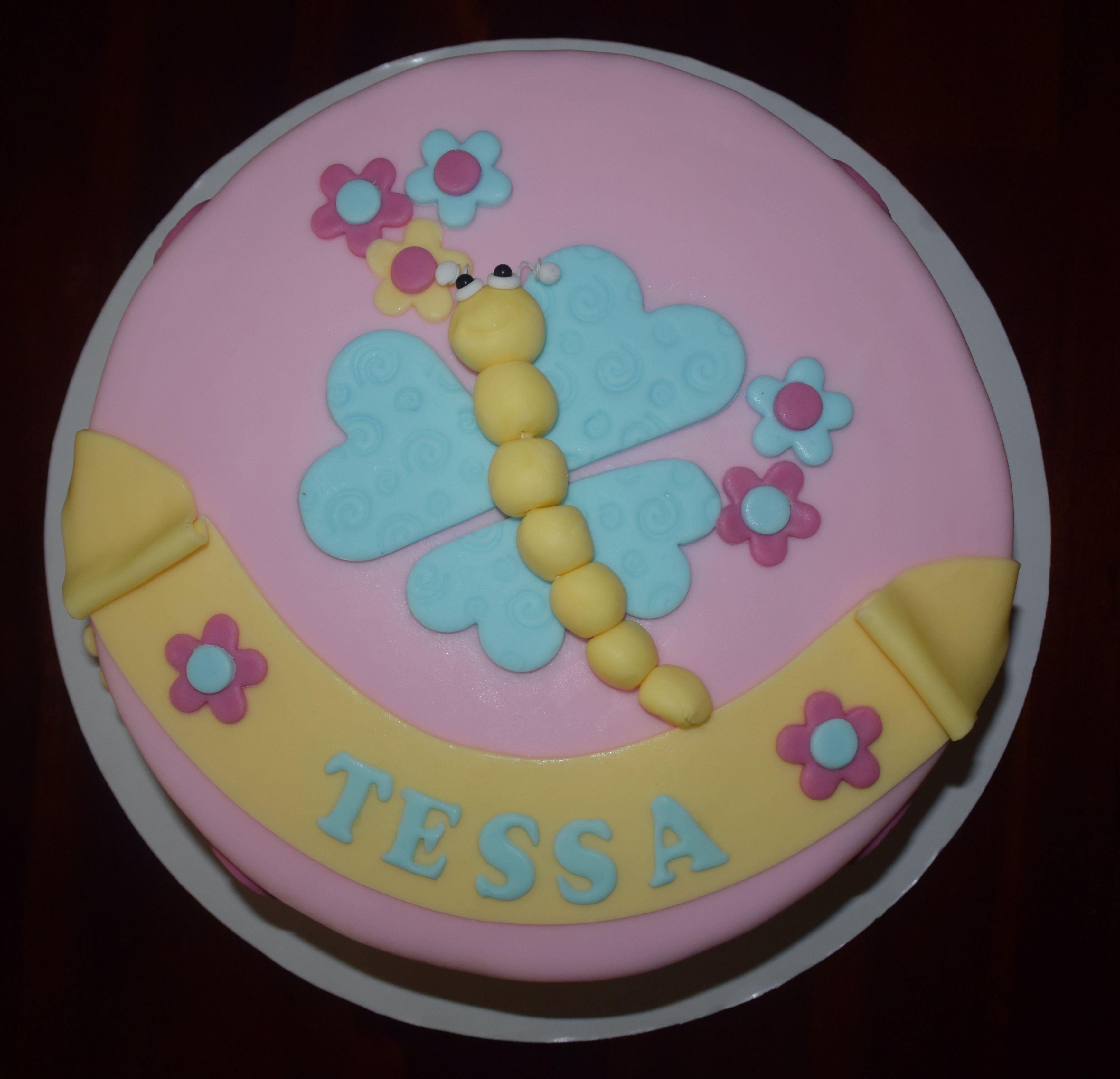 Butterfly Baby Cake Schmetterling Baby Torte