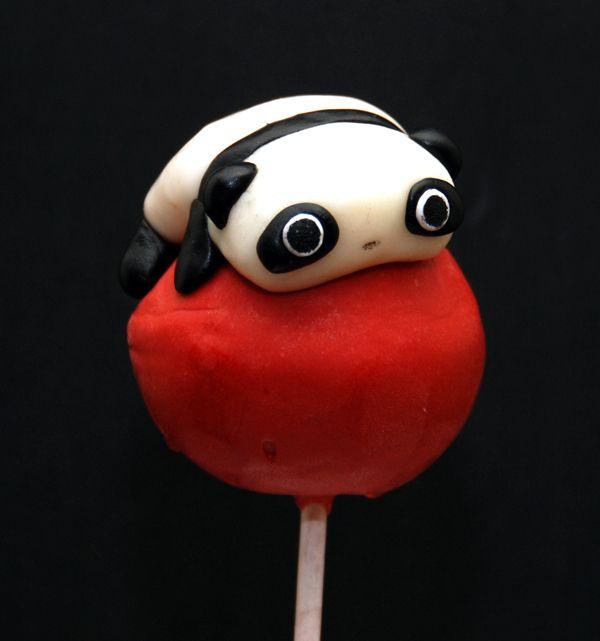 geek food mr panda cake pops by keriwgd on deviantart