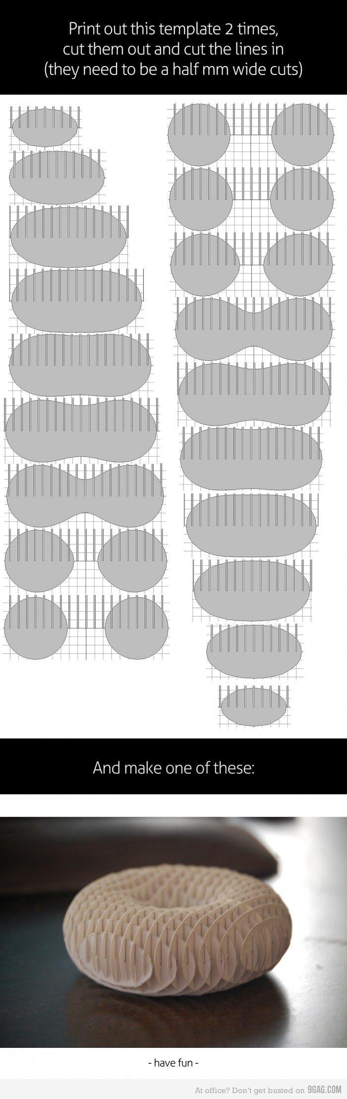 How to make a 3d paper torus cardboard art jen stark for 3d paper craft ideas from jen stark