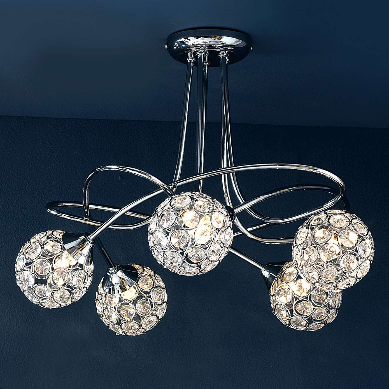 lighting for lounge ceiling. sphere 5light chrome ceiling fitting lighting for lounge