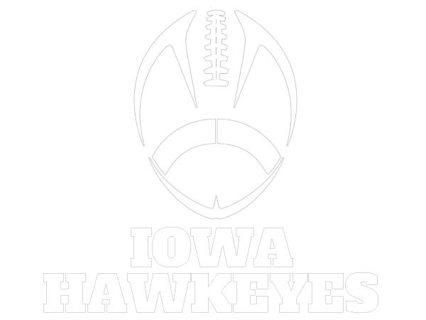 Printable Iowa Hawkeyes Coloring Sheet College Football Coloring