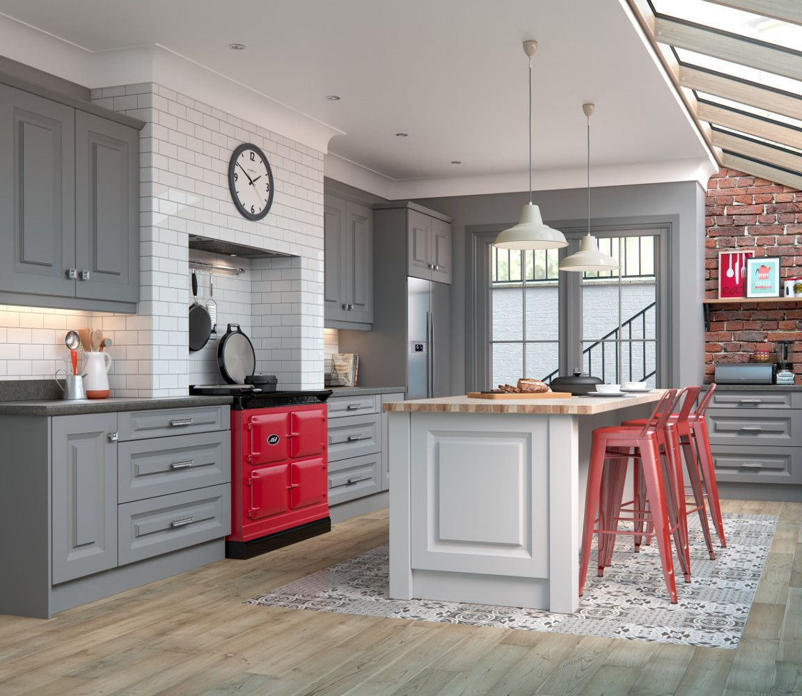 Danbury In Light And Dark Grey Choose Style Kitchens Direct NI - Light and dark grey kitchen
